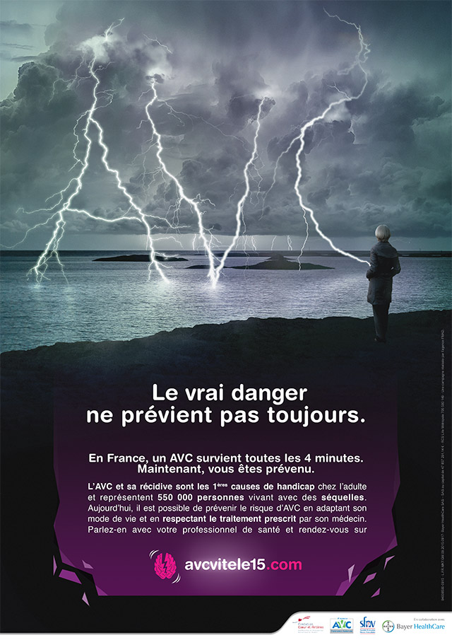 Affiche Campagne AVC Bayer octobre 2015