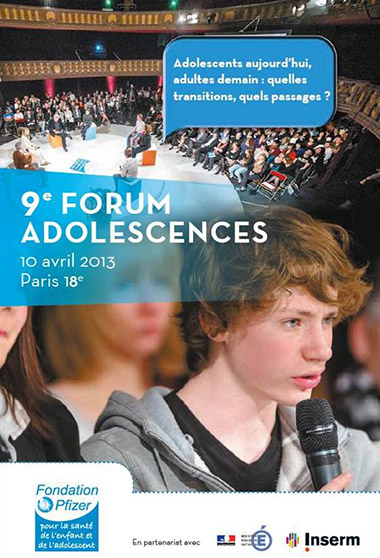 Médiatisation du 9ème Forum des Adolescents, Fondation Pfizer